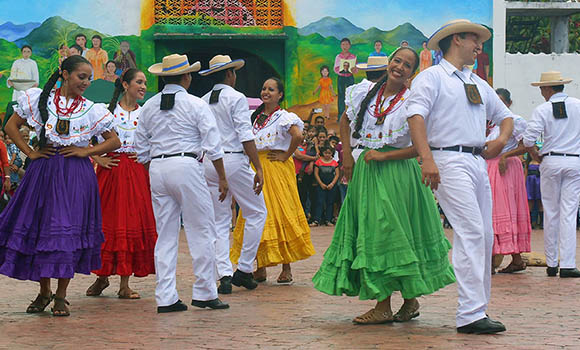 dancers at perquin winter festival