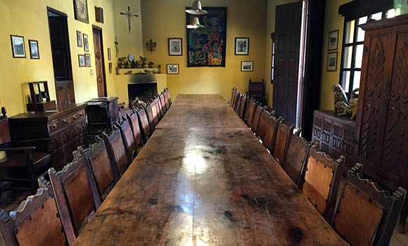 dining room at casa na bolom